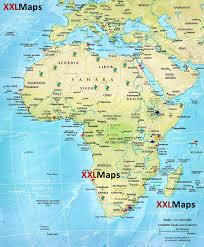 Africa Physical Map by Physical Map Of Africa Free Download For Smartphones Tablets