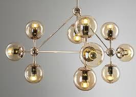 Gold Glass Chandelier Gold Modo Chandelier 10 Globes 15 Globes 21 Globes Golden Color