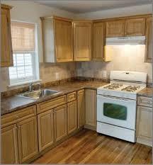 Light Oak Kitchen Cabinets Color Example Of Light Oak Cabinets With Light Med Granite