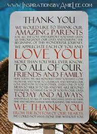 thank you card printed place setting welcome basket wedding