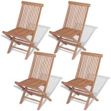 outdoor sitting vidaxl set of 4 patio teak wood folding chairs outdoor seating