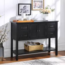 buffet sideboard cabinet storage kitchen hallway table industrial rustic white console table segmart accent buffet sideboard table with 4 storage drawers entryway kitchen decorative console table with cabinet and shelf