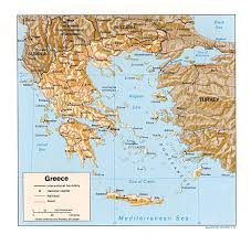 New York Relief Map by Nationmaster Maps Of Greece 35 In Total