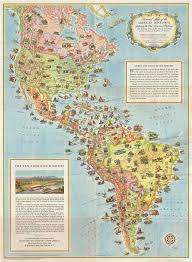 map of america with cities pictorial map of the american continent following the pan american
