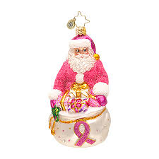 radko ornaments charity breast cancer awareness ornament