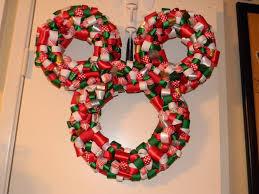 christmas disney mickey mouse ribbon wreath mickey mouse