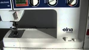 vintage elna air electronic su sewing machine series part i