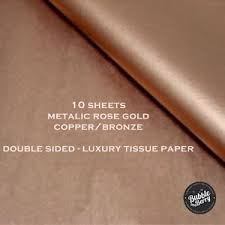 sided wrapping paper luxury bronze gold tissue paper sided wrapping paper