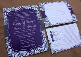 Purple Wedding Invitations Dark Purple U0026 Charcoal Gray Leafy Swirl Patterned Belly Band