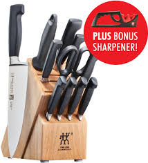 j a henckels kitchen knives zwilling j a henckels 35740013 four star 13 piece knife block set