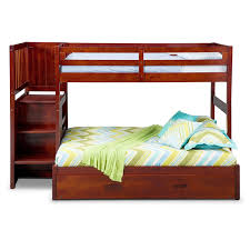 Bunk Bed With Mattress Ranger Twin Over Full Bunk Bed With Storage Stairs And Trundle