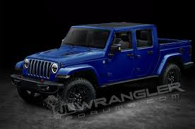 dark blue jeep rubicon will the jeep wrangler pickup look like this motor trend