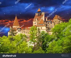 beautiful dracula castle famous legendary medieval stock photo