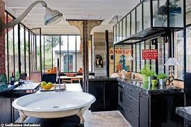 cuisine style loft industriel cuisine style usine cuisine style industriel le mur en briques