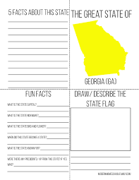Facts About Georgia State Flag 50 States Notebooking Unit For Homeschoolers Full Color Modern