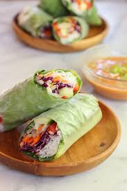 rice paper wrap veggie rolls with spicy peanut dipping sauce the mostly vegan