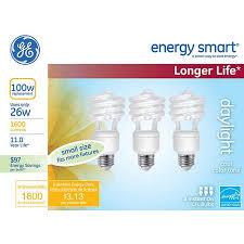 ge energy smart cfl light bulbs 13 watt 60w equivalent ge energy smart spiral cfl 26 watt t2 spiral 3 pack walmart com