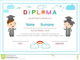 preschool diploma template certificate template kids certificates kindergarten and