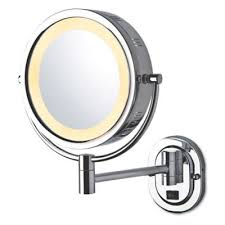 Lighted Wall Mount Vanity Mirror Buy Lighted Magnification Makeup Mirror From Bed Bath U0026 Beyond