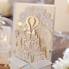 wedding invitation cards enchanted castle wedding invitations pandora s locket