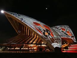 Opera House by Sydney Opera House Lit Up With Aboriginal Australian Art