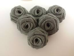 burlap flowers grey burlap flowers 12 pack bflowers grey 2 5 12pk 24 95