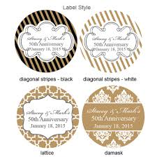 labels for wedding favors golden wedding anniversary personalized labels 20 pcs