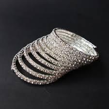 rhinestone bangles bracelet images Pulseira feminina brazaletes pulseras mujer 10 rows rhinestone jpg