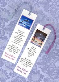 25 dolphin or beach theme wedding favors bookmarks wedding