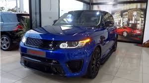 navy range rover sport review range rover sport svr with loop control youtube for