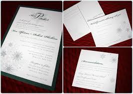 Snowflake Wedding Invitations Emerald Green And Silver Snowflake Wedding Invitations Emdotzee