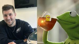 Tebow Meme - redskins troll tim tebow with kermit photo nfl sporting news
