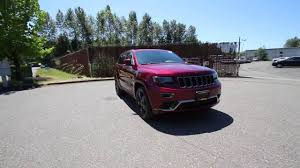red jeep 2016 2016 jeep grand cherokee overland high altitude red gc438582