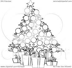 clipart christmas tree outline christmas lights decoration