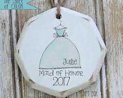 items similar to personalized of honor ornament on etsy