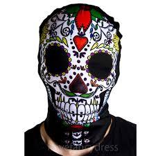 skin mask halloween day of the dead skeleton skin suit mask halloween fancy dress