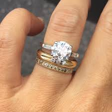 wedding band with engagement ring the best wedding and engagement rings to mix and stack vogue