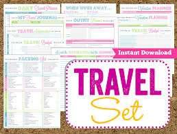 trip planner templates instant download travel printables vacation planner 14 pdf
