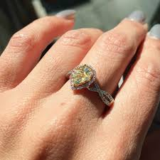 canary yellow engagement rings 86ct 14k gold fancy pink canary yellow cocktail