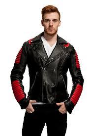 black leather biker jacket anbow black leather biker jacket popsmen fashion store men u0027s