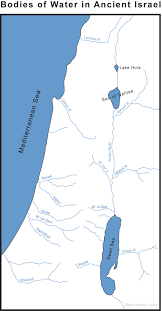 Biblical Map Of The Middle East by Map Of Israel U0027s Bodies Of Water Bible History Online