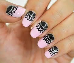 nails context half moon lace