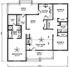 Square Home Plans Traditional Style House Plan 3 Beds 2 00 Baths 1495 Sq Ft Plan