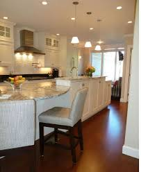 Huge Kitchen Island Fancy White Limestone Walls White Wooden And Granite Large Kitchen