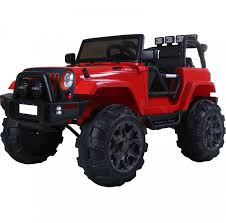 electric jeep for kids rebo wildfire 12v child u0027s ride on electric jeep red outdoor toys