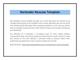 bartender resume template bartender resume no experience zippapp co