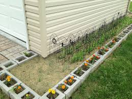 cinder block garage plans cinder block garden gardening pinterest cinder block garden