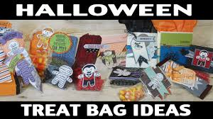 stamping jill halloween treat bag ideas youtube