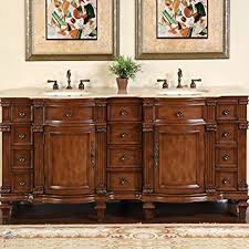 Bathroom Vanity Furniture Silkroad Exclusive Travertine Top Sink