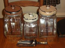 primitive kitchen canisters primitive vintage apothecary glass wood canister set jars